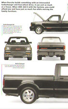 1991 1992 GMC Syclone Pickup Truck Article - Must See !!