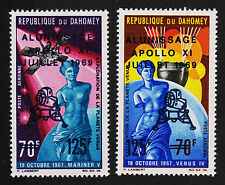 1969 Dahomey Apollo Xi Set Sc#C103-4 Mint Never Hinged Vf 15570