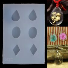 Clear DIY Silicone Earring Mold For Resin Epoxy Jewelry Making Crafts Hand Tool