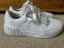 Puma Cali White Leather Trainers UK 6