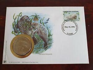 Numisbrief Togo - Afrikanischer Manati Seekuh Medaille stgl. WWF 30 Jahre Top
