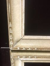 """VTG Aesthetic Gold / White Art Deco Mid Century Wood Picture Frame Fits 19""""x 27"""""""