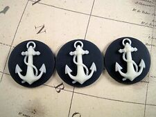 25mm Anchor Cameos (3) - L499 Jewelry Finding