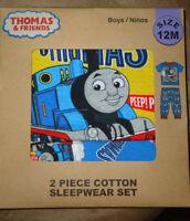 THOMAS & FRIENDS Baby Boys 12 Month 2PC Short Sleeve Sleepwear Set NIP Blue Red