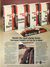 1973 Master Mix Central Soya Cattle Farm Starter Feeds Print Ad