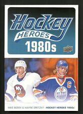 2013-14 Upper Deck Series 1 Hockey Heroes 1980's Set with Header & Art card