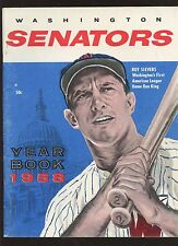 1958 Washington Senators Baseball Yearbook EX