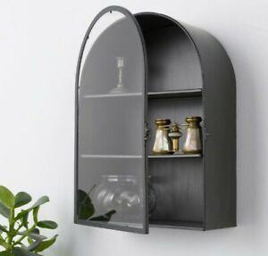 Ikea BOLLEBYGD Display Shelf Wall Shelf with Door 603.866.26 Dark Gray/Black HTF