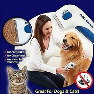 Dog and Cat Flea Tick Remover Electric Brush Pet Safety Comb  045