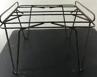 Vtg Mid Century  Hairpin Leg Ottoman Stool No Cushion (f)