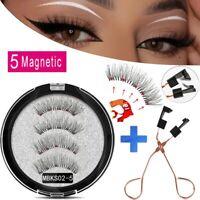 Faux Cils Magnétique 5 aimants faits à la main réutilisables 3D maquillage