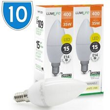 10x 5w = 30w E14 LED Small Screw Candle Light Bulbs Cool White 850 Lamps 5000K
