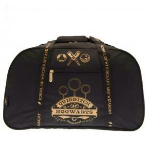 HARRY POTTER QUIDDITCH HOGWARTS HOLDALL BAG BLACK - OFFICIAL HARRY POTTER GIFT