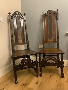 17th Century William & Mary Hall Chairs