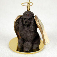 Poodle Dog Figurine Angel Statue Chocolate