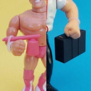 WWF WWE Hasbro Figure Accessories - 1x Arrogance & 1x Briefcase