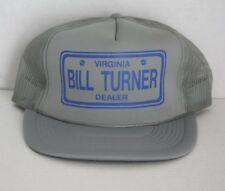 4d541f9e5dc88 Vintage BILL TURNER DEALER TRUCKER HAT Name Virginia Cap Car Dealership  Snapback