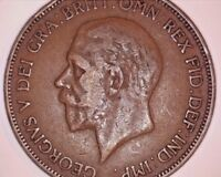 1936 Georgivs V Great Britain One Penny Cent Coin