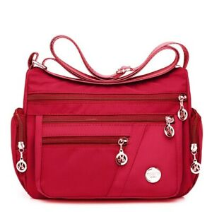 Fashion Women Shoulder Bag Waterproof Nylon Crossbody Bag Handbag Large Capacity