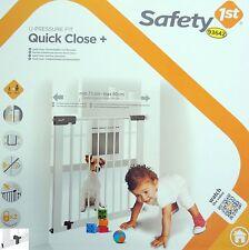 Safety 1st Quick Close Baby Türschutzgitter Treppenschutzgitter Türgitter Neu