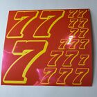 PINK CHROME w/Yellow  #7's Decal Sticker Sheet DEFECTS  1/8-1/10-1/12 RC Mo BoxD