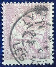 France oblitéré, n°128, 30c violet, Mouchon retouché, 1902