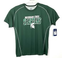 Michigan State Spartans Pro Edge Mens 2XL  Green Short Sleeve Active Wear NWT