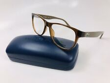 New LACOSTE L2743 210 Brown Eyeglasses 52mm with Case & Cloth