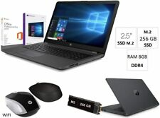 "Notebook HP 255 G7 15.6"",Ssd M2 256GB,Ram8Gb,Windows10+Office2019,Mouse wifi"