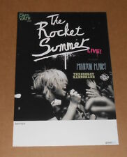 The Rocket Summer Live w/ Phantom Planet Tour Poster Promo 11x17 Secret Handshak