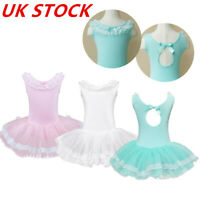 Girls Ballet Dance Dress Leotard Tutu Skirt Ballerina Unitard Dancewear Costume