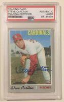 1970 Topps Signed Autographed STEVE CARLTON Baseball Card PSA/DNA HOF
