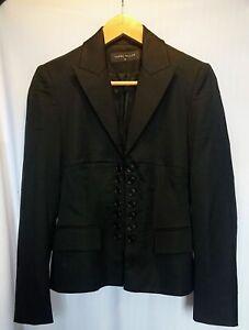 karen millen double batten black  Blazer Size -10
