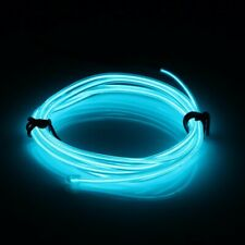 Ice Blue Neon LED Light Glow EL Wire String Strip Rope Tube Decor + Controller