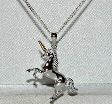 Sterling Silver & 9ct Gold - Unicorn Pendant / Necklace