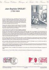 Document philatélique 12-89 1er jour 1989 Drouet Personnage Historique