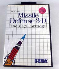 MISSILE DEFENSE 3-D - Sega Master System SMS Complete - Box & Manual TESTED 3D