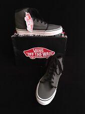 Vans Men's 5.5 Gray True White Sneakers Canvas 106 Hi Gunmetal Women 7.0 New $60