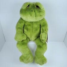 "Lou Rankin Friends Happy Herbert Frog Green Plush Stuffed Animal With Tag 17"""