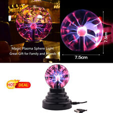 NEW 6 Inch Crystal Globe Magic Plasma Ball Table Lamp Bedroom Decor Touch Nebula