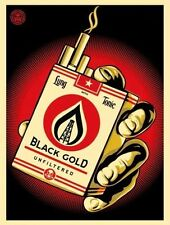 Shepard Fairey Black Gold Poster Art Print Obey Giant Screenprint We The People