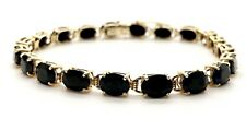 14k Gold And 10 CTW Black Onyx ADPG Alberd David Pearls & Gems Tennis Bracelet