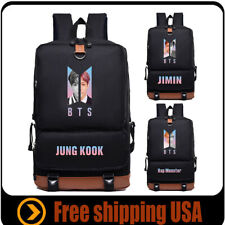 Kpop BTS Backpack School Bag Laptop Bangtan boys bag for V Jimin Jung Kook Jin