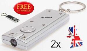 2X LED Torch Keyring Keychain Flashlight For Walking the Dog/Pet Cat Night Light