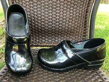 DANSKO Clogs 40 Gray Sparkles Patent Leather Professional Slip On Shoes