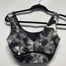 joy lab sports bra womens xs black gray color splat wireless Extra Small Block