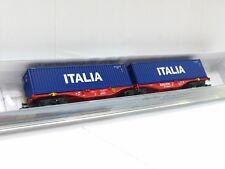 Rocky-Rail N RR60204 Containertragwagen Sgrss Italia Railion DB OVP (V5716)