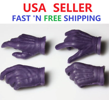 CUSTOM Joker Heath Ledger 1/6 scale Purple Hands Gloves for 12'' Male Figure