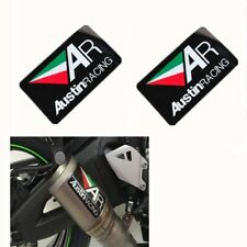 2pcs AR Motorcycle Exhaust Pipe Stickers Austin Racing Heat-resistant 10cmX6cm