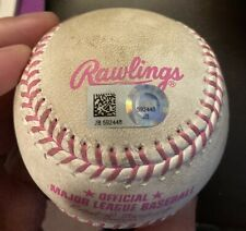 Phillies 2016 Game Used Pink Mothers Day Baseball Miami Marlins Cameron Rupp